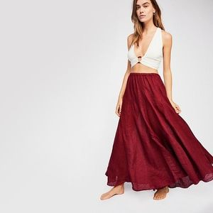 free people || lily linen maxi skirt